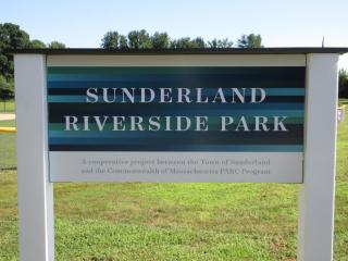 Sunderland Riverside Park Sign